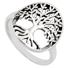 3.26gms indonesian bali style 925 silver tree of connectivity ring size 9 c8309