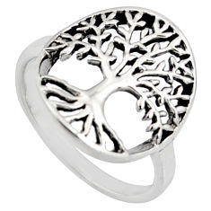 3.02gms indonesian bali style 925 silver tree of connectivity ring size 7 c8310