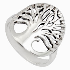 4.02gm indonesian bali style 925 silver tree of connectivity ring size 6 c8317