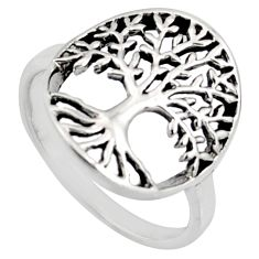 3.02gm indonesian bali style 925 silver tree of connectivity ring size 5.5 c8331