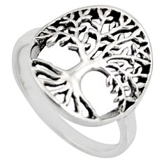 3.26gms indonesian bali style 925 silver tree of connectivity ring size 7 c8332