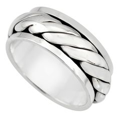 925 silver 10.69gm meditation and concentration spinner band ring size 9.5 c8350