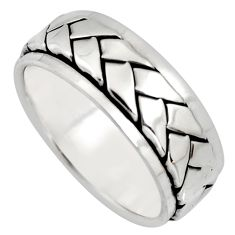 8.02gms meditation and concentration spinner band ring size 8.5 c8352