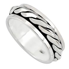 5.26gms meditation and concentration 925 silver spinner band ring size 7.5 c8357