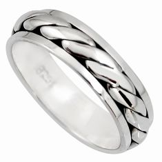 925 silver 5.69gms meditation and concentration spinner band ring size 8.5 c8358