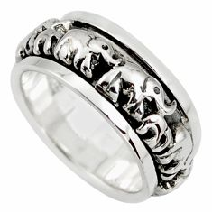 7.26gms meditation and concentration 925 silver spinner band ring size 5.5 c8373