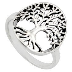 3.02gms indonesian bali style 925 silver tree of connectivity ring size 8 c8399