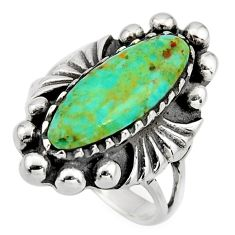 5.08cts green arizona mohave turquoise 925 sterling silver ring size 6 c8545