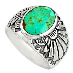 3.39cts green arizona mohave turquoise 925 sterling silver ring size 10.5 c8550