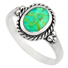 925 sterling silver 2.72cts green arizona mohave turquoise ring size 9.5 c8560