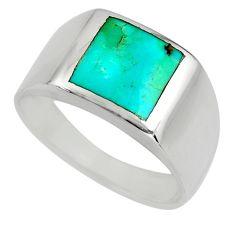 6.69gms green arizona mohave turquoise enamel 925 silver ring size 11.5 c8601