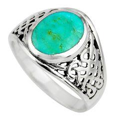 5.89gms green arizona mohave turquoise enamel 925 silver ring size 11 c8667