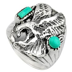 1.57cts green arizona mohave turquoise 925 sterling silver ring size 8.5 c8675