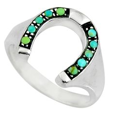 1.87cts green arizona mohave turquoise 925 sterling silver ring size 9.5 c8685