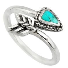 4.48gms green arizona mohave turquoise 925 silver adjustable ring size 8 c8692