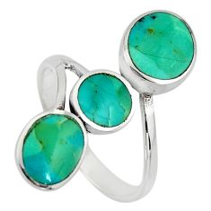 4.48gms green arizona mohave turquoise 925 silver adjustable ring size 9 c8693