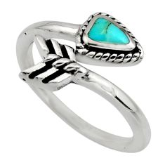 4.48gms green arizona mohave turquoise 925 silver adjustable ring size 8 c8697