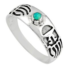 0.12cts green arizona mohave turquoise 925 sterling silver ring size 11.5 c8698