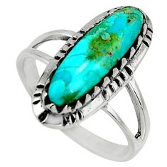 925 sterling silver 3.51cts blue arizona mohave turquoise ring size 9 c8703