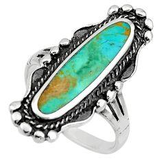 5.26gms blue arizona mohave turquoise enamel 925 silver ring size 8 c8711