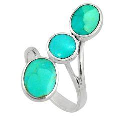 4.48gms blue arizona mohave turquoise enamel 925 silver ring size 8 c8712