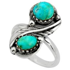 925 silver 6.20cts blue arizona mohave turquoise enamel ring size 8 c8714