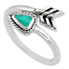 4.29gms blue arizona mohave turquoise 925 silver adjustable ring size 8.5 c8717