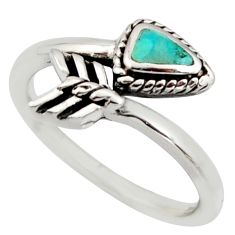4.48gms green arizona mohave turquoise 925 silver adjustable ring size 8.5 c8729
