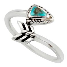 4.26gms green arizona mohave turquoise 925 silver adjustable ring size 10 c8730