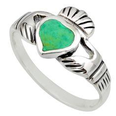 3.26gms green arizona mohave turquoise enamel 925 silver ring size 9 c8733
