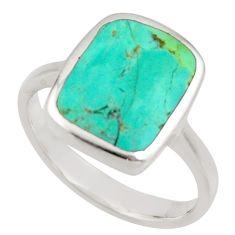 4.69gms green arizona mohave turquoise enamel 925 silver ring size 7 c8737