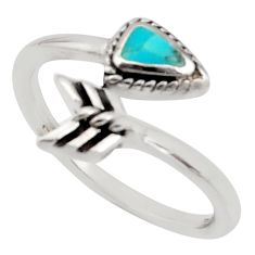 4.47gms green arizona mohave turquoise 925 silver adjustable ring size 9.5 c8738