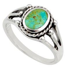 925 silver 2.89gms green arizona mohave turquoise enamel ring size 5.5 c8745