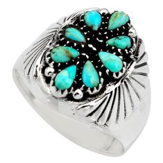 2.61cts green arizona mohave turquoise 925 sterling silver ring size 11.5 c8746