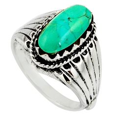 2.93cts green arizona mohave turquoise 925 sterling silver ring size 6 c8756