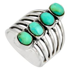 925 sterling silver 3.22cts green arizona mohave turquoise ring size 7 c8758