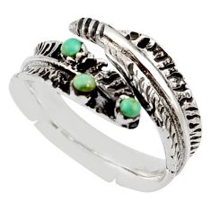 925 silver 0.26cts green arizona mohave turquoise adjustable ring size 8.5 c8764