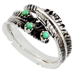 0.28cts green arizona mohave turquoise 925 silver adjustable ring size 8 c8765