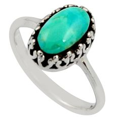 925 sterling silver 3.83cts green arizona mohave turquoise ring size 9 c8772