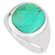 4.48gms green arizona mohave turquoise enamel 925 silver ring size 8 c8779
