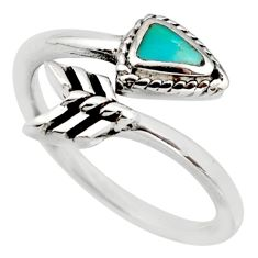 4.47gms green arizona mohave turquoise 925 silver adjustable ring size 9 c8781