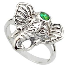 925 silver 3.48gms green arizona mohave turquoise elephant ring size 6 c8784