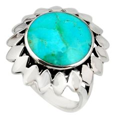 7.52cts green arizona mohave turquoise 925 sterling silver ring size 7 c8785