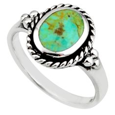 925 sterling silver 2.09cts green arizona mohave turquoise ring size 7 c8794