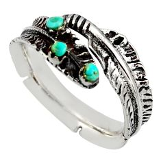 0.28cts green arizona mohave turquoise 925 silver adjustable ring size 9 c8796