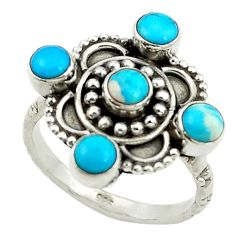 Clearance Sale- auty turquoise 925 sterling silver ring size 7 d14305