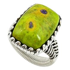 925 silver atlantisite (tasmanite) stichtite-serpentine ring size 5.5 d15400