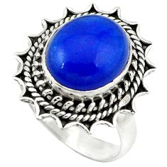 Clearance Sale- is lazuli 925 sterling silver ring jewelry size 7 d1603