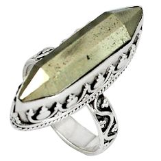 Titanium aura quartz (arkansas) 925 sterling silver ring jewelry size 8 d8019