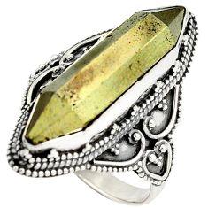 Titanium aura quartz (arkansas) 925 sterling silver ring jewelry size 8.5 j23586